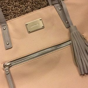 Light pink and grey Nine West purse